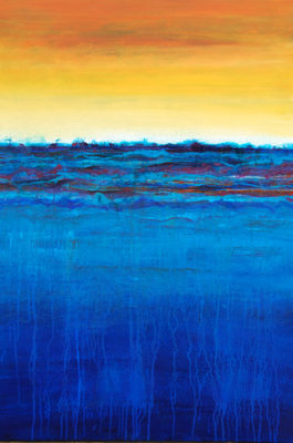 SOLD - Contemporary Abstract Painting Original Art on Canvas - Landscape 10