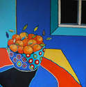 Clementines in Spotty Bowl - SOLD