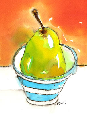 Still Life Fine Art Print A4 from Original Watercolour Ink Painting Fruit V