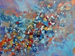 Cosmic Voyage Series I - Original Abstract Painting on Canvas - SOLD