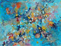 Cosmic Voyage Series II - Original Abstract Painting on Canvas