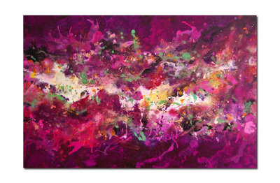 SOLD Cosmic Voyage Series 10 - Contemporary Abstract Original Canvas Painti