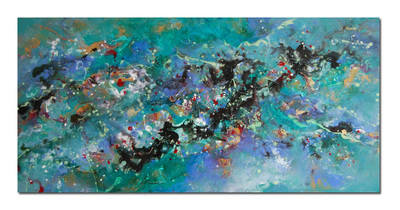 Cosmic Voyage Series 9 - Contemporary Abstract Original Canvas Painting