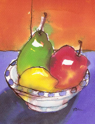 Fruit Art Print Colourful Modern Still Life Fine Art Print