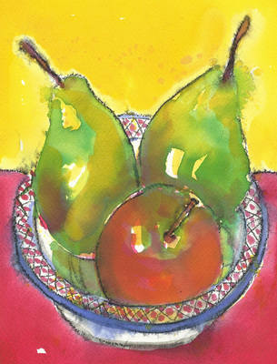Fruit Art Print Colourful Modern Still Life Fine Art Print
