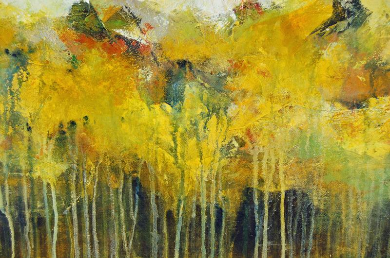 Buy Abstract Painting Original Art Canvas Large Yellow Green ...