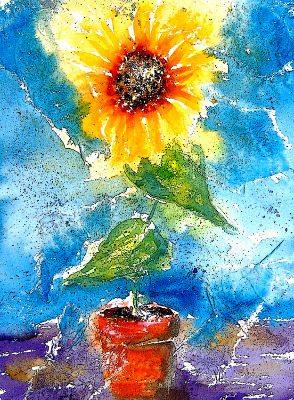 A4 Art Print Colourful Modern Still Life Fine Art Sunflower Print