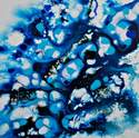 Flow Series 42 - Contemporary Abstract Original Canvas Painting Blue White
