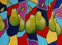 Pear Parade - Original Abstract Still Life Art Painting