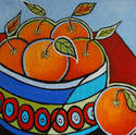 Abstract Oranges - Original Abstract Still Life Painting