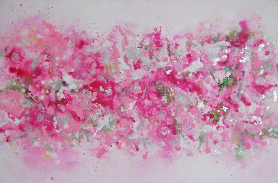 'Whisper' - Pink Abstract Painting Original Canvas Artwork