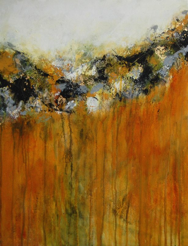 Yellow and black abstract painting original contemporary ...Yellow Abstract Painting