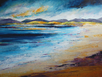 Harris Beach - Large Contemporary Abstract Seascape - SOLD