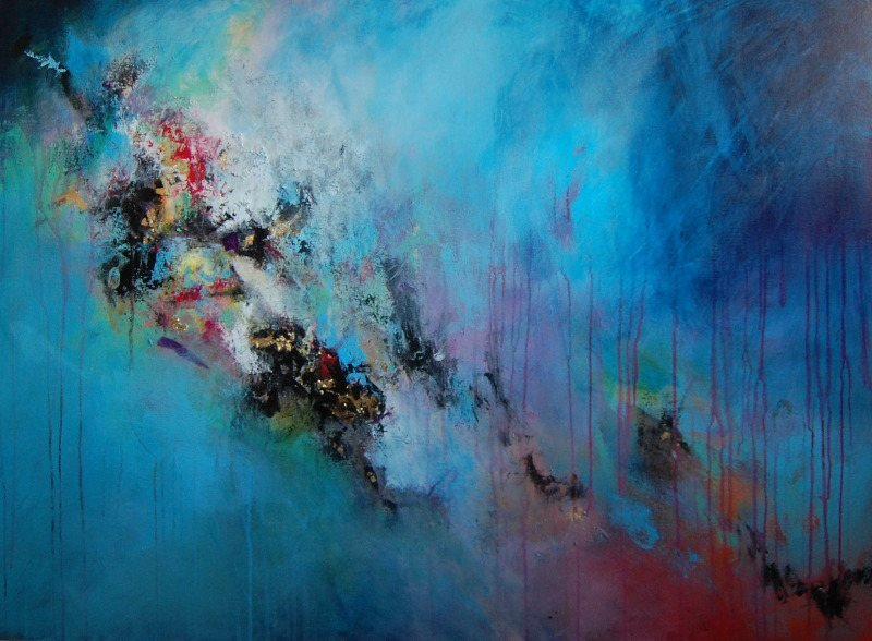buy large abstract painting blue