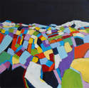 Patchwork Landscape - Contemporary Abstract Painting