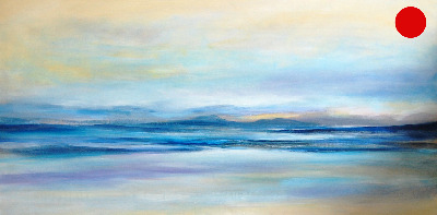 SOLD Tranquility II - Large Contemporary Seascape Painting