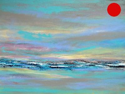 Abstract Landscape 15 Original Landscape/Seascape Painting on Canvas - SOLD