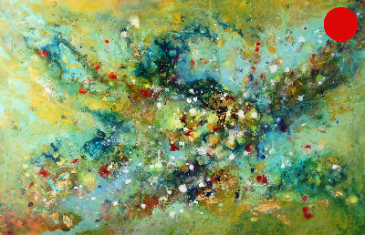 SOLD - Cosmic Voyage Series IV - Contemporary Abstract Original Painting on