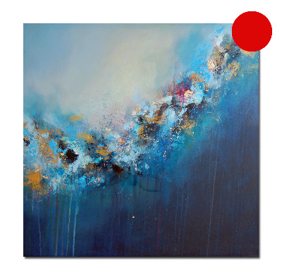 Strata 17 Abstract Painting Blue Original Canvas Artwork - SOLD