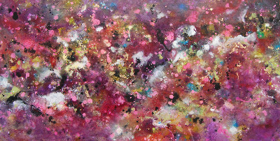 SOLD - Cosmic Voyage 14 - Large Purple Original Painting on Canvas