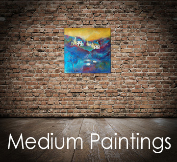 Medium size paintings, original art for sale