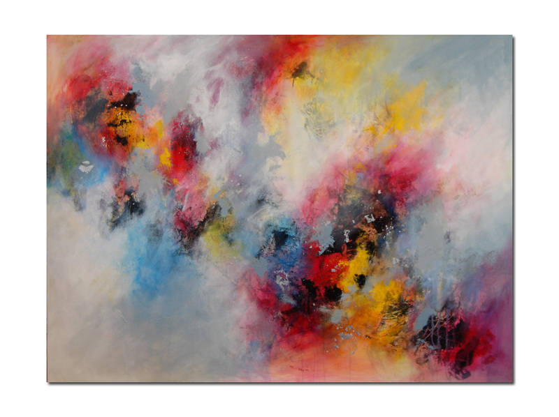 very large abstract painting on canvas