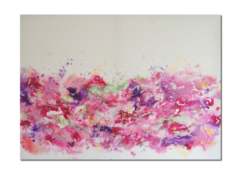 Large pink abstract painting