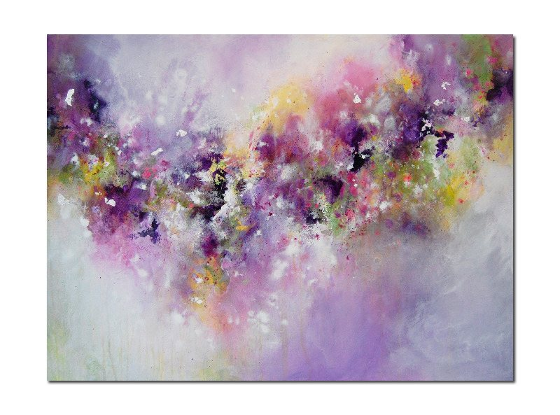 Large purple abstract painting