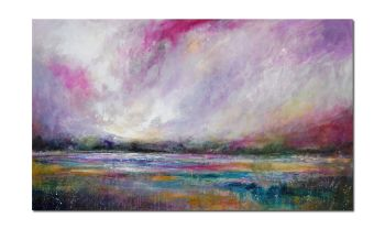 Magenta Sky - Very Large Original Abstract Landscape Painting