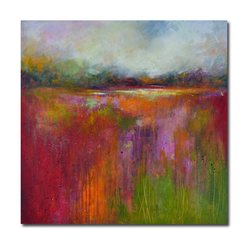 Large expressive abstract landscape painting
