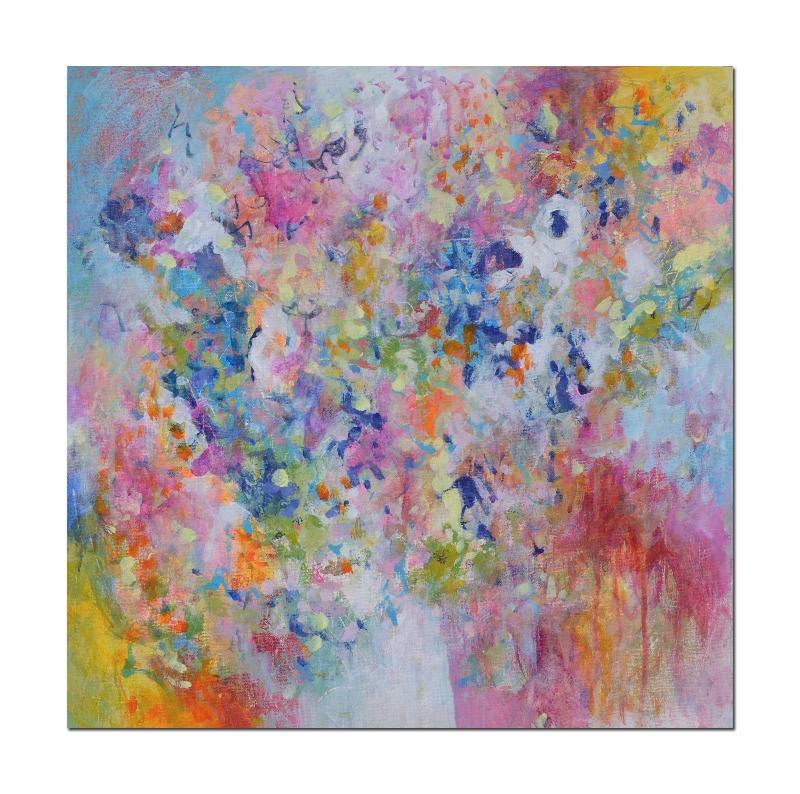 Original abstract floral flower painting