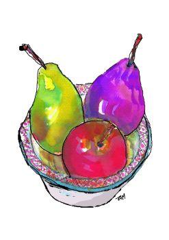 Art Print Colourful Modern Still Life Fine Art Fruit Print