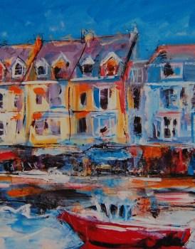 Art Print Colourful Ilfracombe Harbour Fine Art Print