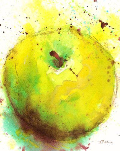 Art Print Colourful Apple Fine Art Print