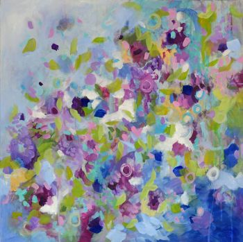 Wisteria - Original Abstract Expressionist Painting on Canvas