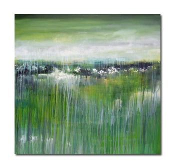 Green Landscape II (Commission)- Contemporary Abstract Landscape Painting