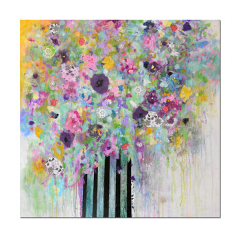 Bouquet - Original Abstract Expressionist Floral Painting on Canvas