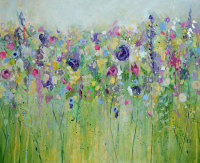 Spring Meadow - Original Abstract Floral Painting on Canvas