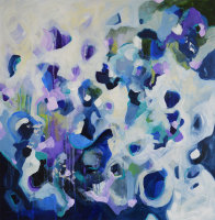 Feeling The Blues - Original Abstract Expressionist Painting on Canvas
