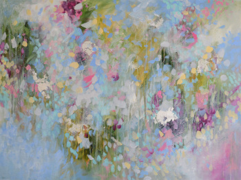 Spring - Large Original Abstract Expressionist Painting on Canvas