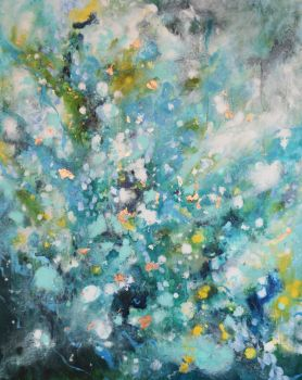 Unknown Voyage II Original Abstract Expressionist Painting on Canvas