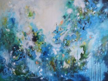 I've Been Whispering Softly - Large Original Abstract Expressionist Painting on Canvas