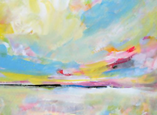 Landscape Art Print 8x10 or A4 Colourful Abstract Landscape Fine Art Print