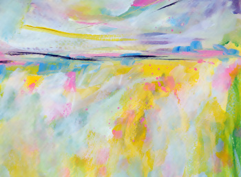 Abstract Landscape Art Print 8x10 or A4 Colourful Landscape Fine Art Print