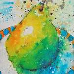 green yellow pear detail1