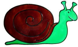 456 - Snail handmade peelable window cling decoration