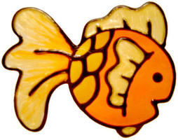 550 - Goldfish - Handmade peelable static window cling decoration