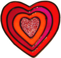 49 - Heart - Handmade peelable static window cling decoration