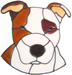 587 - Staffordshire Bull Terrier Dog - Handmade peelable static window clin