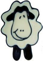 634 - Cute Sheep - Handmade peelable static window cling decoration